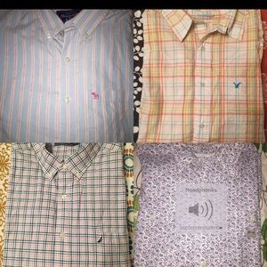 Lot of 4 Mens XL button up long sleeve s